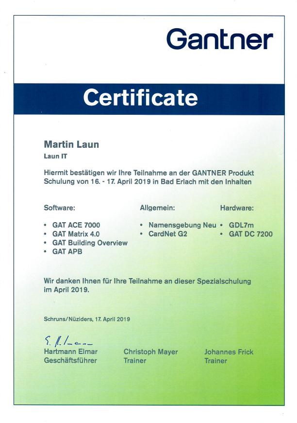 Laun IT Gantner GDL7m ACE7000