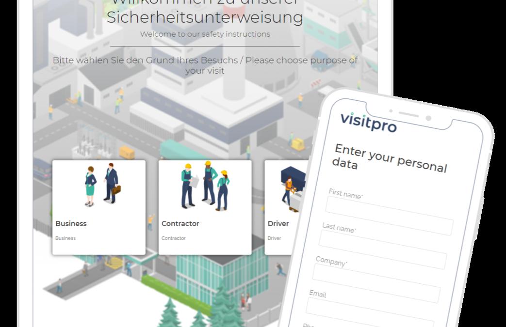 Visitpro – Sicherheitsunterweisung & Besucherverwaltung